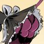 Maid Persephone - Cartoon PinUp Commission