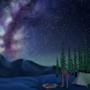 Gondola and the Night Sky
