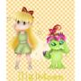 Minako and Palmon [Digimoon] by michrose