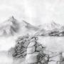mountain in fog by cristianemi