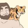 A Man & His Shoulder Cat