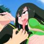 Tsuyu Asui Quick Fuck with Deku