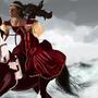 Medieval Lady on Horse by GotRedOnYou