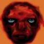 blue eyed demon head by Jean-Raymond