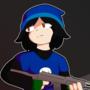 daniel with submachine gun