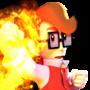 NicoBros' Flaming Jump [NicoBros Render 2 Alt]