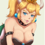 Bowsette by Evowo