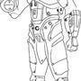 Power Armor Line Art by Kinsei