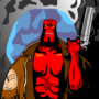 Hellboy in the Moonlight by excellion2pwn