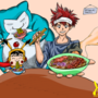 Food Wars Soma with Snorlax