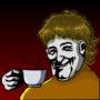 Gabriel Barsch enjoying a nice little cup of coffee.