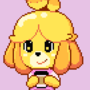 Isabelle Sipping Coffee
