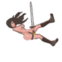 Fallen Barbarian - Her first falling