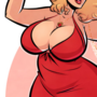 Anna Nicole Smith - Thick to Thicc - Cartoon PinUp Commission