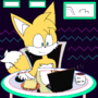 Tails at Cyber Cafe