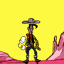 Lucky Luke, faster than his shadow