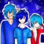Crystal Blue,Sonic Gamer And FelipeTheHedgehog