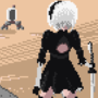 Nier-Automata (2B Standing distant)
