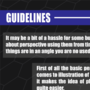 Guidelines Tutorials