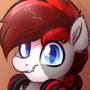 Headphone Bat Horse Portrait Commission