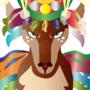 Colourful reindeer