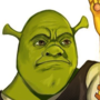 Shrek holding the Infinity Guantlet