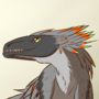 (commission) Grey Raptor