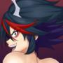 Evil Ryuko shakes the goods