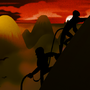Yellow Mountains by AlmightyHans