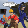 Spy sapping my sentry! by TwistedGrim