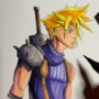FF7 Cloud Strife Sketch