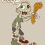 Vegetarian Zombie by kevinbolk
