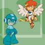 Captain N: Megaman & Pitt by kevinbolk