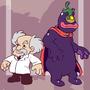 Captain N: Wily & Eggplant Wiz by kevinbolk