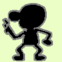 Mr. Game and watch with a gun