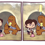 Star Wars Funnies: Chewie by kevinbolk