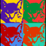 Pop art cat graphic