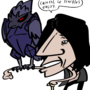 V and his corviknight by zachselsior