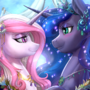 Luna and Fleur - Happy Mare-iage and Honey-Moon