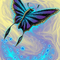 Butterfly with stained glass..
