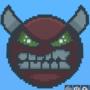 Hard Demon Geometry Dash (pixel art copied)