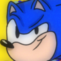 Sonic the Hedgehog w/90s filter