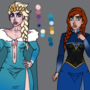 Character Designs - The Queen's Affair