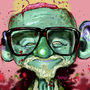 George A Romero Zombified by KamikazePanda