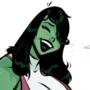 She-Hulk - Smashing Pumpkins - Cartoon PinUp
