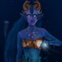 Magical Horned Mermaid