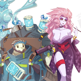 Character Design Lineup - STRANDED LAND