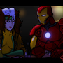 Rogue and IronMan in the Bar by Osuka