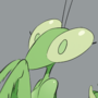 Mantis-chan on a hot night