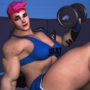 Zarya showing off (Clothed)